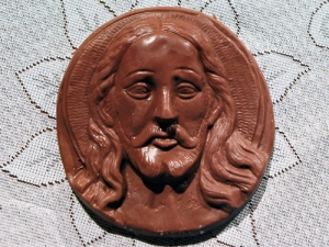It's just as well Easter falls when id does: Chocolate Jesus