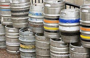 Barrels: Strictly speaking, Kegs. Barrels or Casks have no CO2 propellant