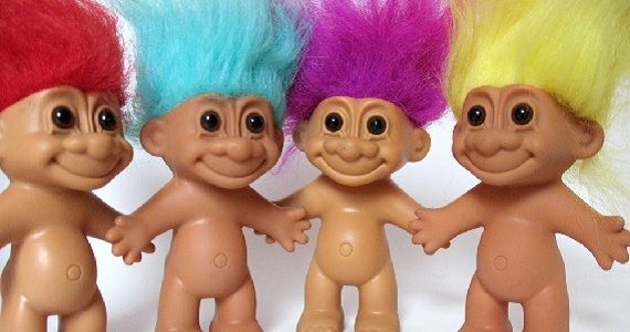 Trolls: ugly, bad-tempered critters
